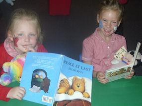 We shared books with our teddy bears.