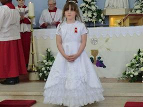 One of our Year 3 Communicants.