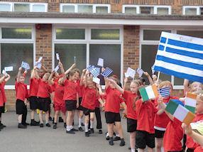 Greece show their support.