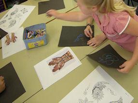 We enjoyed creating our own Mehndi Patterns.