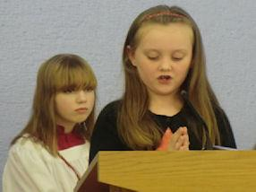 Leading one of our Bidding Prayers.