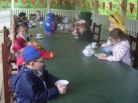 We enjoyed meeting Alice in Wonderland