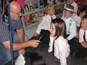 Sean O'Connor interviews the children