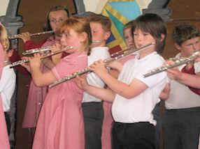 Year 4 flautists.