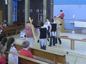 The Fifth Station - Simon of Cyrene helps Jesus