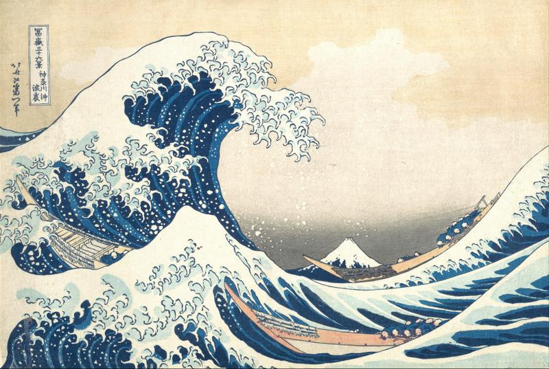 Created by Hokusai in 1831.