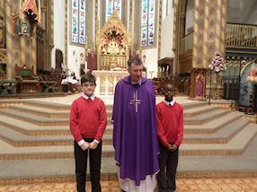 Our altar servers with Fr Lennon.