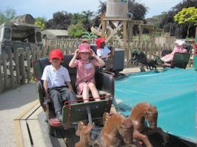 We had lots of fun on the rides and the play areas