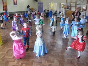 Everyone had lots of fun dancing at the Storyland