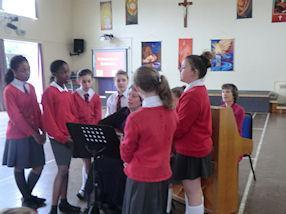 Some talented members of the School Choir
