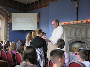 Father Paul celebrated Mass with us.