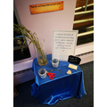 Some of our pop-up prayer spaces in school.