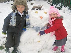 """I love my snowman!"""