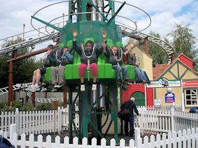 We loved the drop tower in Thomas Land.
