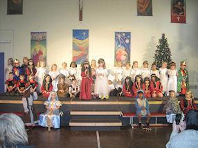 The children enjoyed retelling The Christmas Story