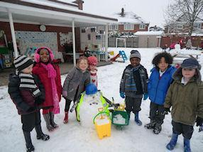 We all had great fun playing in the snow!