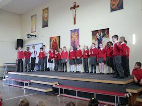 Year 5G singing 'Dance With Me Tonight'
