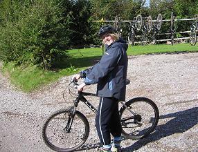 Miss Gallagher, before biking