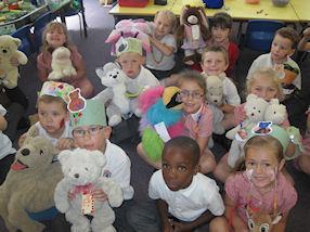 The teddy bears had lots of fun at school