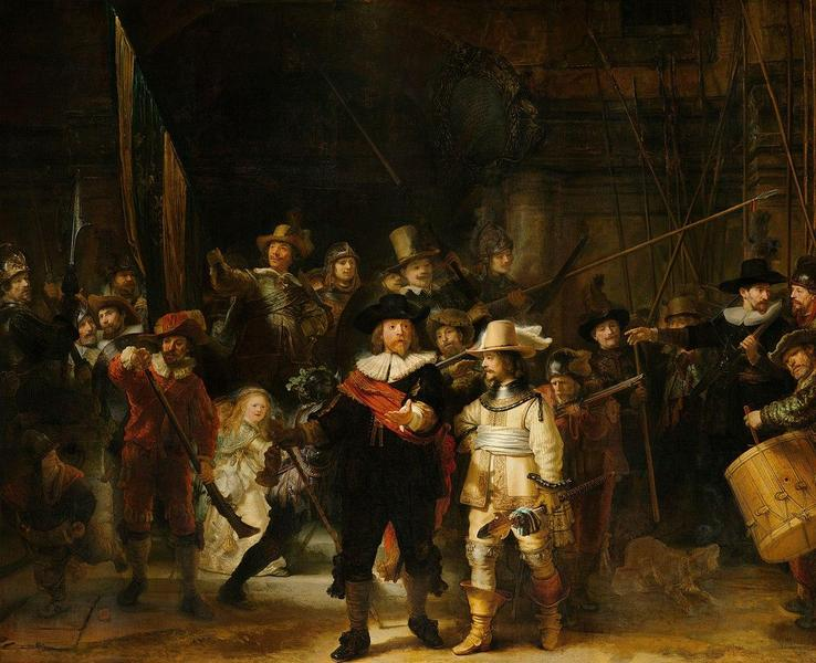 Created by Rembrandt in 1642.