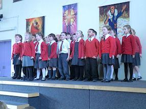 Year 3 singing Coldplay's 'Paradise'.