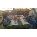 We designed and created our own printing blocks
