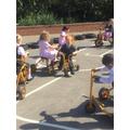 We enjoyed riding the bikes.