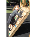 We enjoyed using the play equipment to build up our gross motor skills.