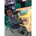 Making palm leaves and crosses.