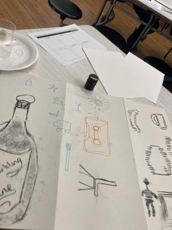 Miss Platt's sketching
