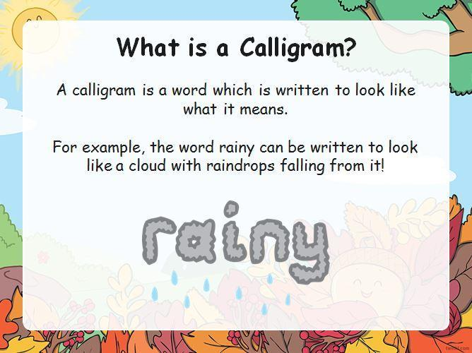 What is a calligram?