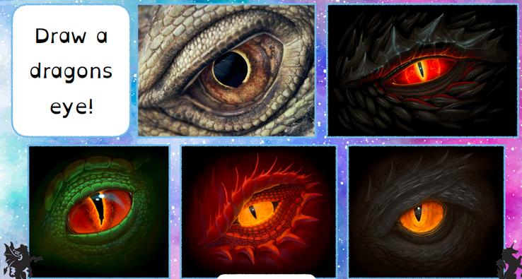 Draw a dragons eye!