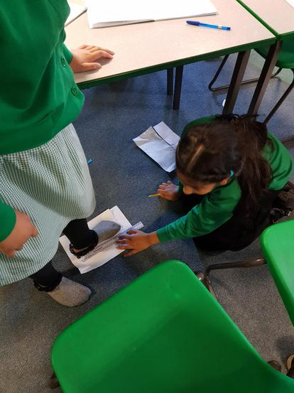 We measured when we were sat and stood up.