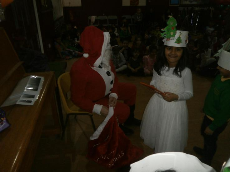 giving presents to the children