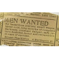 Shackleton's advertisement for a crew