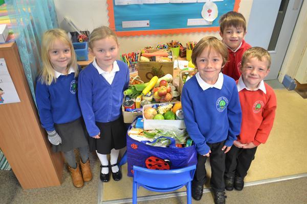 Harvest Donation to Wadebridge Food Bank