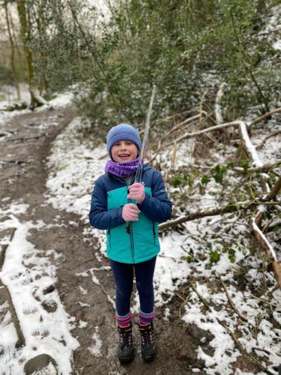 Eve went on an 8.5km hike around Redisher Wood