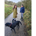 Jack and Lily enjoying a family walk