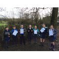 Y6 key workers took part in a winter 'nature scavenger hunt'