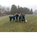 Class 6 key worker group on a 4km walk around Rossendale Golf Club