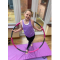 Chloe took part in a 21 minute hooping session