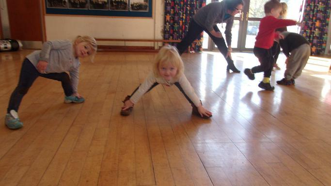 Dancing in the school hall