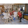 Covering the sculptures with wet strength tissue