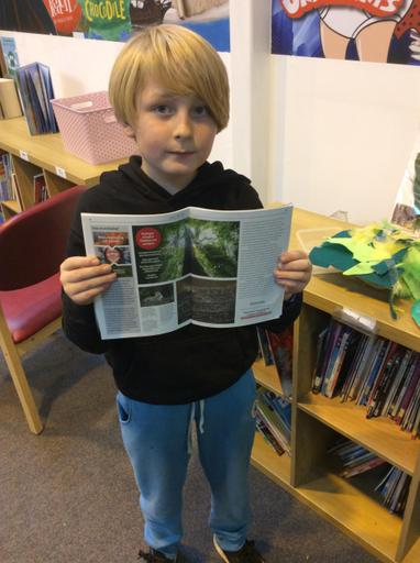 Otis found some interesting information in a Greenpeace magazine.