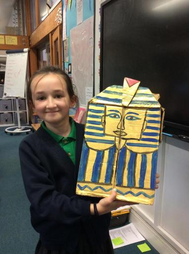 Marcie shared her Death Mask with the class.