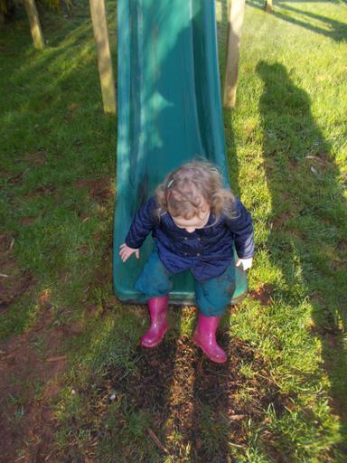 Taking turns on the slide