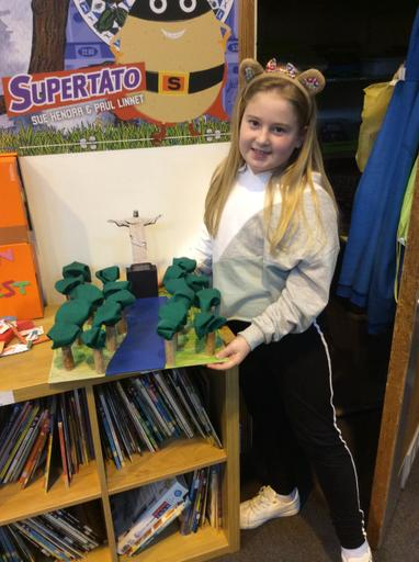 Libby shared her wonderful recreation of Christ the Redeemer.