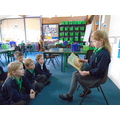 Darcey read the story to the whole class.