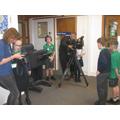 We had a film crew in school