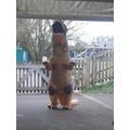 A dinosaur in the Mulberry Garden!